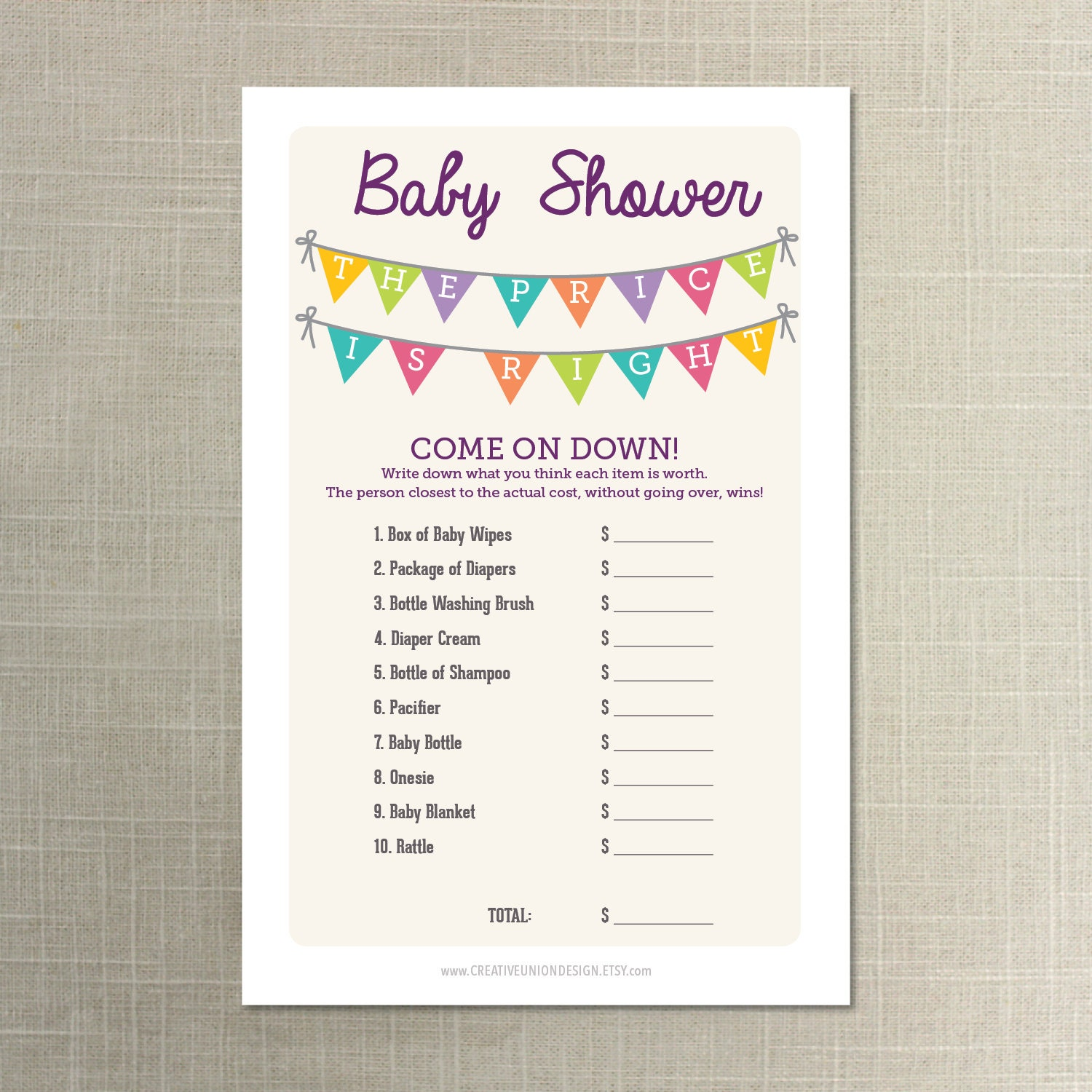 gt images for gt the price is right baby shower game free printable