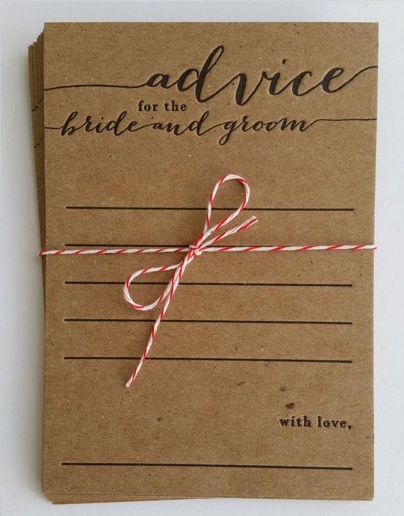 bridal shower game keepsake marriage advice card wedding newlywed