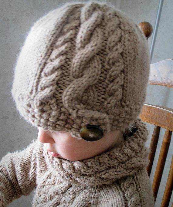 Slouch Hat Knitting Pattern Circular Needles : KNITTING PATTERN PDF Slouch Hat Knit pattern Baby