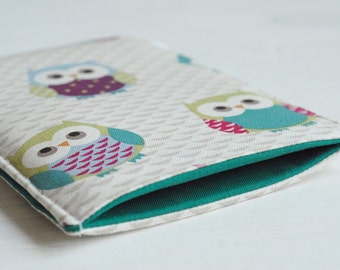 """Cute Owl Print Padded Gadget Cover Case / Kindle Touch Case / Kindle 6/ Kindle Paperwhite / Samsung Tab S2 8"""" / Sleeve for iPad Mini in"""