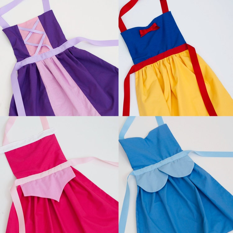 Cinderella Wedding Dress Up Games Online White Camo: Princess Starter Pack Of 4 Dress Up Aprons: By
