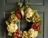 Summer Wreaths | Hydrangea Wreath | Front Door Wreaths | Wreath for Front Door | Fall Wreath | Year Round Wreath | Housewarming Gift
