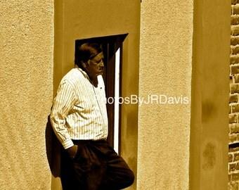 Man Standing in Todos Santos (Photo on Canvas)