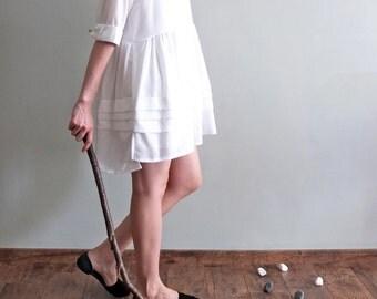 White Babydoll layered dress