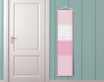 Modern Pattern Personalized Growth Chart - Polka Dots, Lace, Gingham