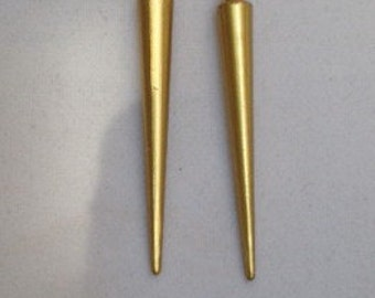 Gold Spike Earrings, Silver Spike Earrings