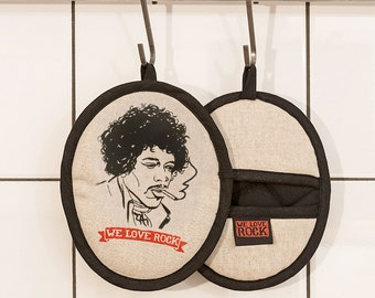 Rockers pot holder VOODOO CHILE - printed by hand