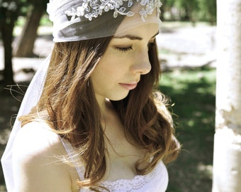 Wedding Headpiece Boho Headpiece Bridal Headpiece Rhinestone Headband Crystal Headpiece
