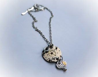 Steampunk BDSM Jewelry Necklace Apocalypse burning man pendant industrial grunge anniversary birthday Gift for man woman