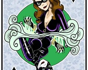 Queen of Diamonds - Catwoman Fan Art Print