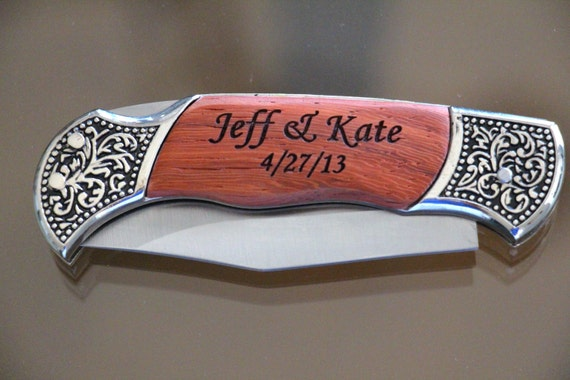 Giving Knives As A Wedding Gift : Engraved Knife, Personalized Engraved Knife, Groomsmen Gifts, Wedding ...