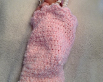 Crochet baby cocoon with matching hat - free shipping