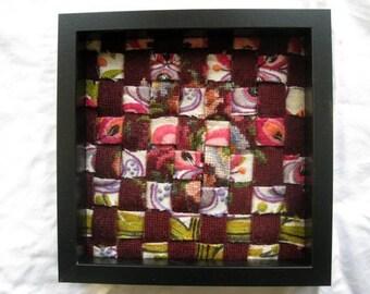 Handwork 6 - Vintage Wool Needlepoint Canvas Woven Framed Artwork - Lesley Turner