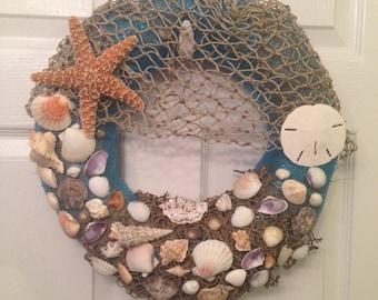 Beach Themed Wreath Handmade