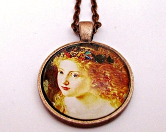 Fairy Pendant Necklace, Fairy Necklace, Fairy Jewelry, Sophie Anderson, Woodland Fairies, Fairy Art Pendant, The Fairy Queen, Glass Dome