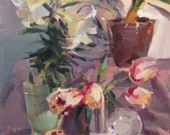 "Sale! Painting still life ""An Impression (sketch)"" by Oregon artist Sarah Sedwick 12x9"""