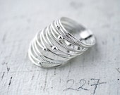 Galactical silver 14 stacking rings