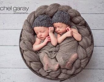 Twin Newborn Hats, Newborn Hat Boy, Newborn Boy Hat, Newborn Photo Prop Boy, Newborn Twins Baby Twins Newborn Photo Prop Hat Baby Boy Hat