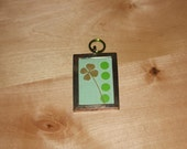 Real Four Leaf Clover Charm for Necklace for St. Patrick's Day