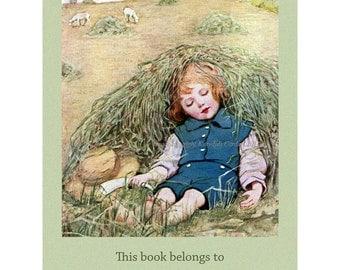 Nursery Rhyme Bookplates - Pack of Ten - Little Boy Blue