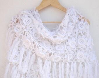 Crochet Shawl / Bridal Shawl / Wedding Shawl / Bridal Shrug / Winter Wedding / Bridal Bolero / Bridal Cover Up / Winter Accessories