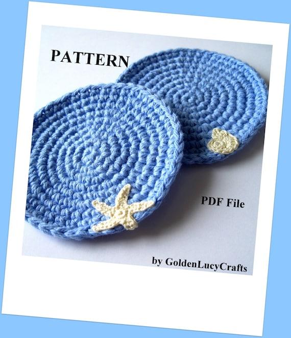 Crochet Sea Motifs Free Patterns : Crochet Coasters PATTERN Ocean Theme Sea Motifs Summer