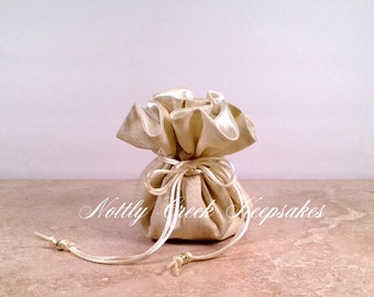 Jewelry Bag Pouch * Bride * Bridesmaids Gifts*Shimmering Gold Travel Bag*Jewelry Organizer*Cosmetic Bag * You Choose the Inside Lining Color