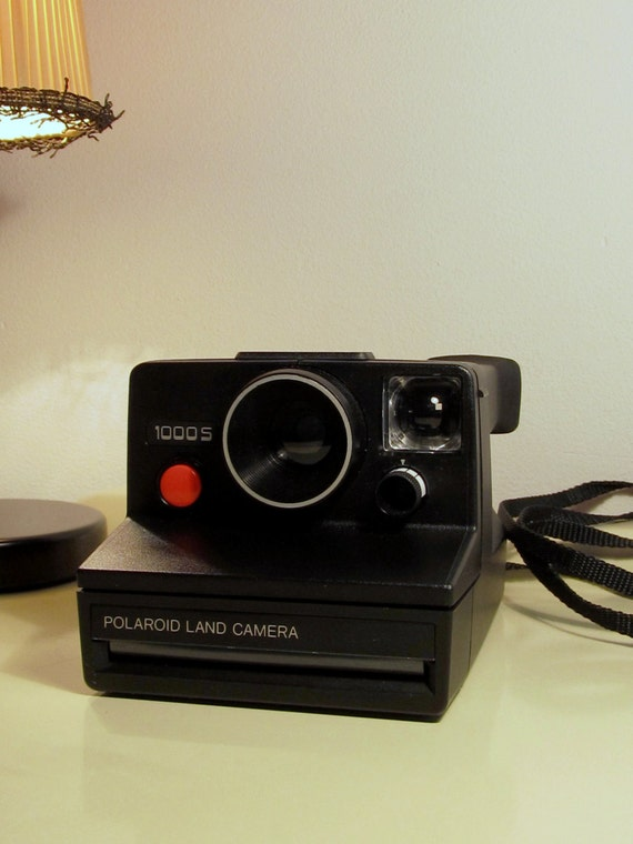 polaroid camera land camera 1000 s rare black color sx 70 type. Black Bedroom Furniture Sets. Home Design Ideas