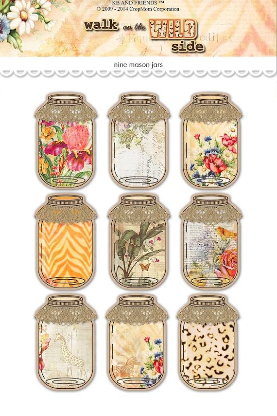Rare image regarding printable mason jar tags