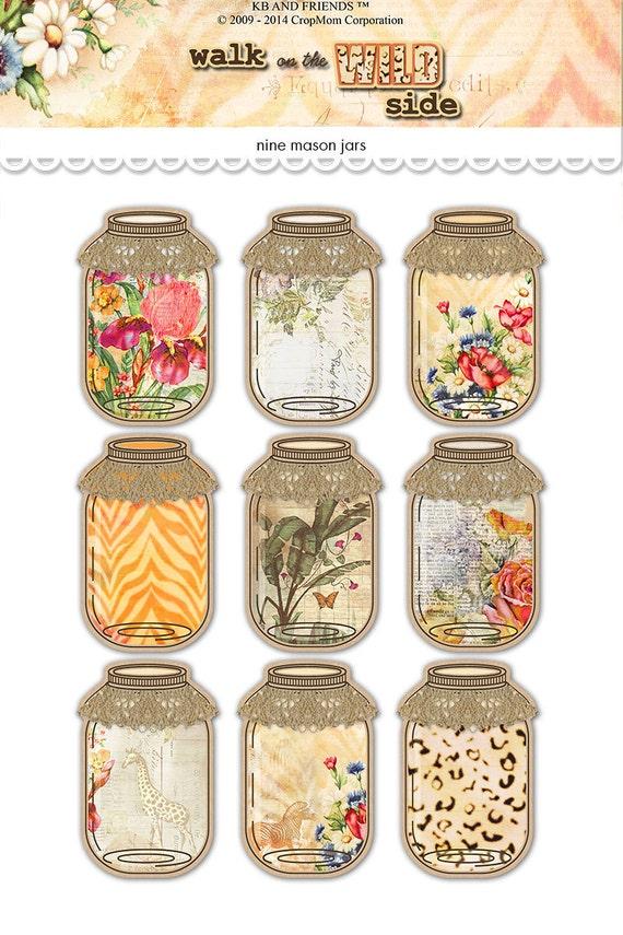 Satisfactory image within printable mason jar tags