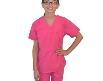 Pink Kids Scrubs for little Doctors and Nurses