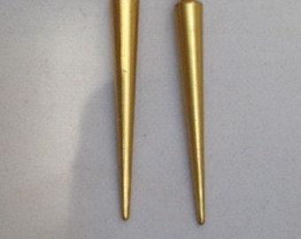 Gold Spike Earrings, Silver Spike Earrings