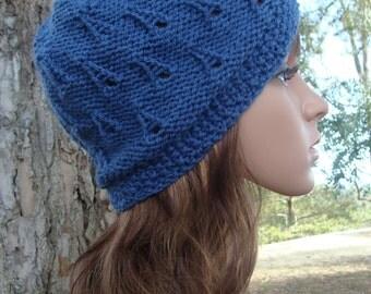 PATTERN #33: Womens unique tear drop knit hat pattern - Fits an average adult and teen head - Instant Download PDF Digital File/Pattern