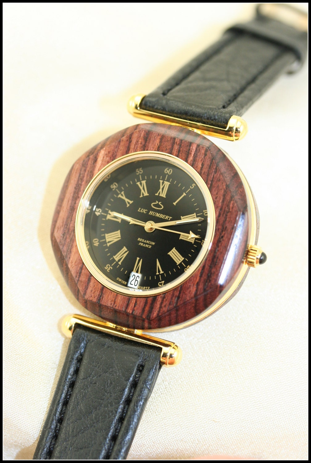 mens 14k solid gold unique watches for