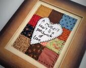 Hand  Appliqued Quilt Framed, Quilt Art, Mother's Gift, Quilt Gift