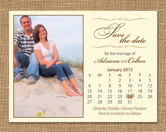 Calendar Photo Save the Date Magnets