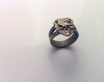 Inscribed Ravenclaw Crest Ring - Custom Size