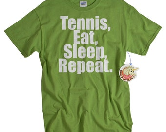 Tennis Gifts - Shirts for Men and Women - Eat Sleep Repeat T shirts Christmas Gift for Player