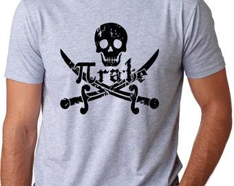 MENS Pirate t shirt funny math shirt S-3XL