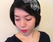 Metallic Rosette Fascinator Headband