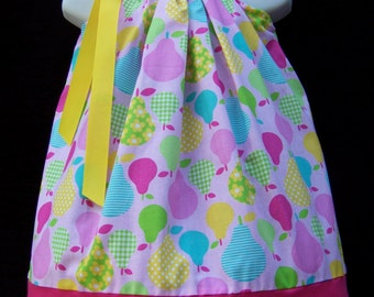 PEAR Pillowcase Dress / Pink / Girly / Birthday / Spring / Summer / Newborn / Infant / Baby / Girl / Toddler / Custom Boutique Clothing