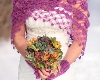 Bridal Shrug,Bridal Bolero,Winter Wedding,Wedding Cape, Winter Bridal Wrap, Bridal Cover up, Bridal Cape, Crochet Shawl, White Bolero, Shawl