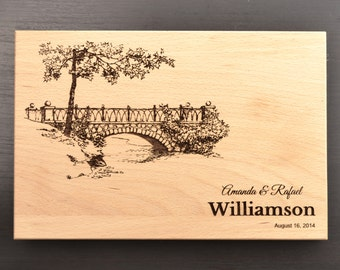 Personalized Cutting Board, Custom Wedding Gift, Anniversary Gift, Housewarming Gift, Engraved Chopping Block, Kitchen Decor, Carved Board