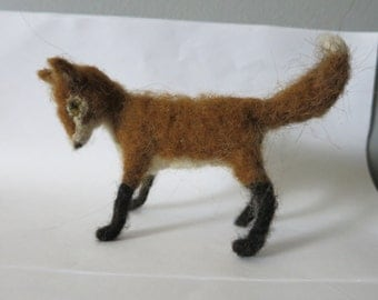 needle felted  red fox