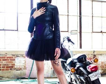 Black Mini Tulle Skirt | Adult Tutu, Cute Skirt, Elastic Waistband, Tulle Skirt for Women, Mini Skirt