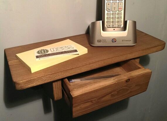 handmade hall phone tablet bedside wall shelf by