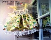 Fancy baby dress with bloomers