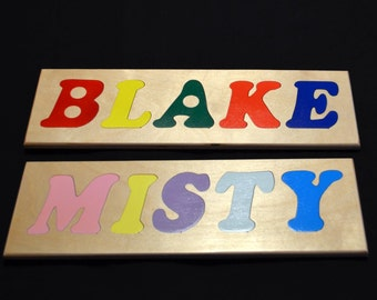 HANDCRAFTED Wooden NAME PUZZLE