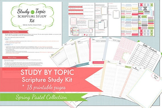 Study by Topic - Scripture Study Kit