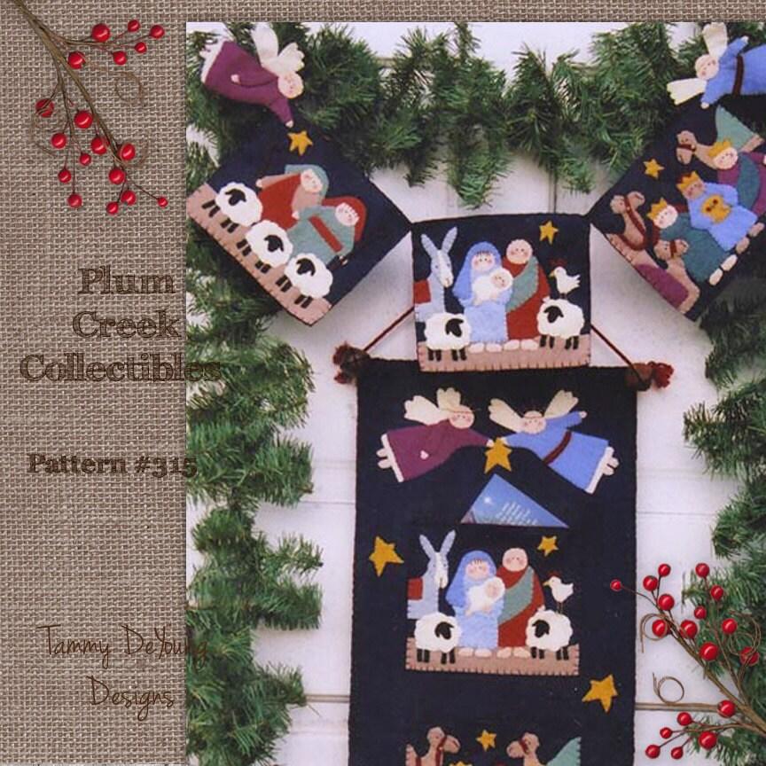 Nativity Pattern, Wool felt Christmas pattern, Christmas